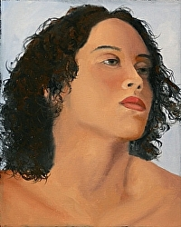 Mark Webster - Portrait of Shandra Oil Painting