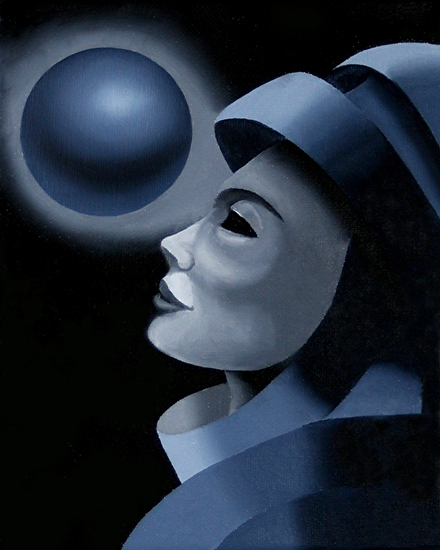"""Untitled Dark Mask #2 Oil Painting by Artist Mark Webster by Mark Webster Oil ~ 10"""" x 8"""""""