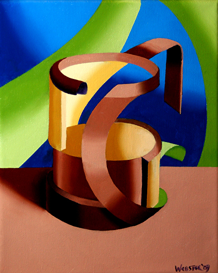 "Futurist Abstract Beer Mug Oil Painting by Northern California Artist Mark Webster by Mark Webster Oil ~ 10"" x 8"""
