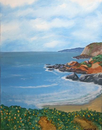 Bodega Bay Acrylic Painting by Artist Mark Webster by Mark Webster Acrylic ~ 14 x 11