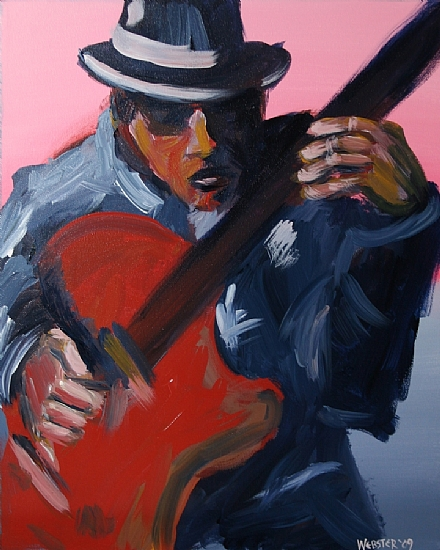 "Jazz #3 Acrylic Painting by Mark Webster Acrylic ~ 20"" x 16"""