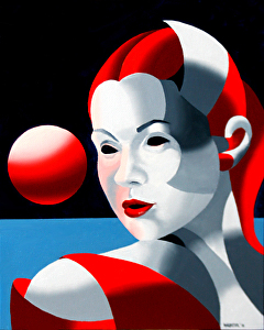 """Dark Matter Oil Painting Series #8 by Mark Webster Oil ~ 10"""" x 8"""""""