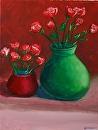 Rose Vases Flower Acrylic Painting by Northern California Artist Mark Webster by Mark Webster Acrylic ~ 16 x 12