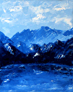 "Daily Painters Blog - Mount Impasto - Palette Knife Oil Painting by Northern California Artist Mark Webster by Mark Webster Oil ~ 10"" x 8"""