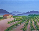 "Vineyard #14 Acrylic Painting - Original Acrylic Painting by Northern California Artist Mark Webster by Mark Webster Acrylic ~ 8"" x 10"""
