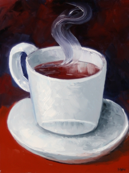 Coffee Cup Study Oil Painting by Northern California Artist Mark Webster by Mark Webster Oil ~ 8 x 6""