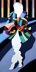 Mark Webster - Continuing My Progress on Modern Woman in Tokyo - Abstract Oil Painting