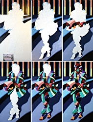 Mark Webster - Full Process from Start to Finish for Modern Woman in Tokyo - Abstract Oil Painting