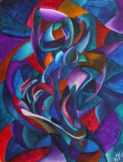 """Abstract Paintings 2 - The Aria - Abstract Figurative Acrylic Painting by Mark Webster Acrylic ~ 24"""" x 18"""""""