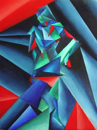 "Mark Webster - My Earliest Abstract Paintings 4 - Untitled - Abstract Figurative Acrylic Painting by Mark Webster Oil ~ 24"" x 18"""