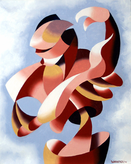 "Mark Webster - Plexus 1 - Abstract Figurative Gesture Oil Painting by Mark Webster Oil ~ 10"" x 8"""