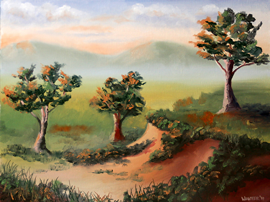 "Mark Webster - Foothill Sunset Landscape Oil Painting by Mark Webster Oil ~ 9"" x 12"""