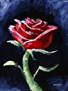 "Impressionist Rose #2 Still Life Oil Painting by Mark Webster Oil ~ 12"" x 9"""