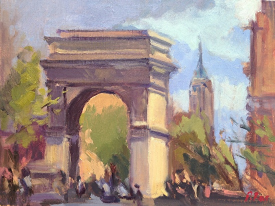 Washington Square park, NYC - Oil