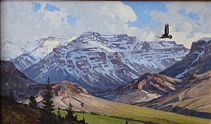 "Absaroka Medicine Eagle by Greg McHuron Oil ~ 18"" x 30"""