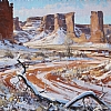 "Awash in Snow by Greg McHuron Oil ~ 20"" x 30"""