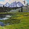 "Henrick Pond Occupants by Greg McHuron Oil ~ 24"" x 40"""