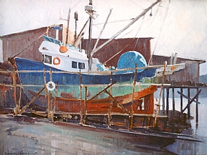 Dry Dock by Greg McHuron Oil ~ 18