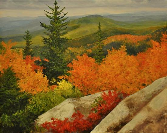 Mount Pisgah in Autumn - Oil