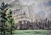 "Royal Arches, Yosemite by Vcevy Strekalovsky Watercolor ~ 6"" x 9"""