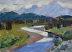 """Teton Sundown by Vcevy Strekalovsky Oil ~ 6"""" x 8"""""""