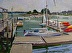 "Hingham Yacht Club 1 by Vcevy Strekalovsky Oil ~ 12"" x 16'"