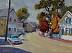 """North Street by Vcevy Strekalovsky Oil ~ 9"""" x 12"""""""