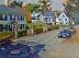 "Main Street Hingham by Vcevy Strekalovsky Oil ~ 9"" x 12"""