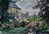 """Moulin de Hard by Vcevy Strekalovsky Watercolor ~ 6"""" x 9"""""""