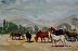 "Saguaro Lake Ranch by Vcevy Strekalovsky Watercolor ~ 4"" x 6"""