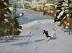 """Snow Bowl by Vcevy Strekalovsky Oil ~ 12"""" x 16"""""""