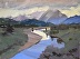 "Teton Sundown 2 by Vcevy Strekalovsky Oil ~ 18"" x 24"""