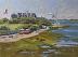 "High Tide at Kimball Beach by Vcevy Strekalovsky Oil ~ 12"" x 16"""