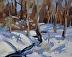"""Snow Day 2 by Vcevy Strekalovsky Oil ~ 8"""" x 10"""""""