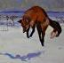 "Pounce by Vcevy Strekalovsky Oil ~ 18' x 18"""