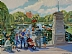 "Afternoon at the Public Garden by Vcevy Strekalovsky Oil ~ 30"" x 40"""