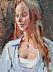 "Lauren by Vcevy Strekalovsky Oil ~ 16"" x 12"""