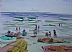 "Nantasket by Vcevy Strekalovsky Watercolor ~ 6"" x 8"""