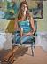 """Pensive by Vcevy Strekalovsky Oil ~ 16"""" x 12"""""""