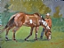 "The Grass is Greener by Vcevy Strekalovsky Oil ~ 12"" x 16"""
