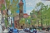 "Afternoon on Clarendon by Vcevy Strekalovsky Oil ~ 8"" x 12"""