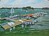 """Yacht Club by Vcevy Strekalovsky Oil ~ 18"""" x 24"""""""