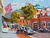 "Art Walk Hingham by Vcevy Strekalovsky Oil ~ 6"" x 8"""