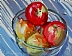 "Pommes, Poires et Pyrex by Vcevy Strekalovsky  ~ 6"" x 8"""