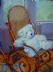 "Theo and Thonet by Vcevy Strekalovsky Oil ~ 24"" x 18"""