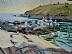 """Fish Beach Jetty by Vcevy Strekalovsky Oil ~ 16"""" x 12"""""""