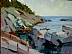 "Lobster Cove by Vcevy Strekalovsky Oil ~ 12"" x 16"""