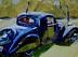 """1936 Bugatti by Vcevy Strekalovsky Oil ~ 6"""""""" x 8"""""""