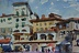 "Cortona by Vcevy Strekalovsky Watercolor ~ 4"" x 6"""