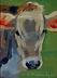 """Heifer by Vcevy Strekalovsky Oil ~ 8"""" x 6"""""""